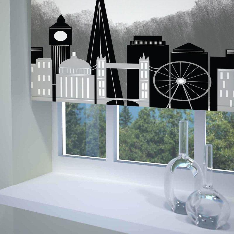 Inspiration about London Skyline Ready Made Blackout Roller Blind Black Pertaining To London Blackout Panel Pair (#14 of 41)