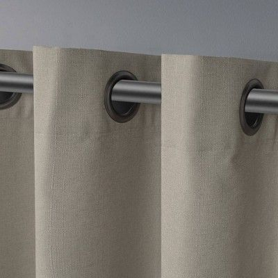 Inspiration about London Thermal Textured Linen Grommet Top Window Curtain Pertaining To Thermal Textured Linen Grommet Top Curtain Panel Pairs (#3 of 42)