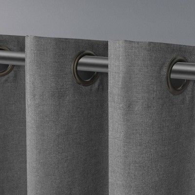 Popular Photo of Thermal Textured Linen Grommet Top Curtain Panel Pairs
