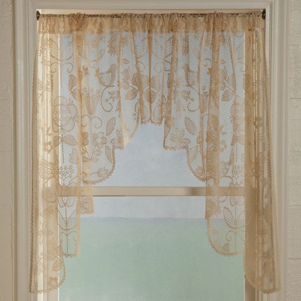 Long Swag Lace Curtains | Rhapsody Lace Curtain Panel, Tiers Inside Luxurious Old World Style Lace Window Curtain Panels (View 5 of 50)