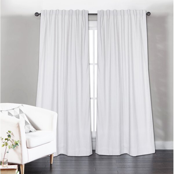 Long White Curtains | Wayfair Within Overseas Leaf Swirl Embroidered Curtain Panel Pairs (View 13 of 50)