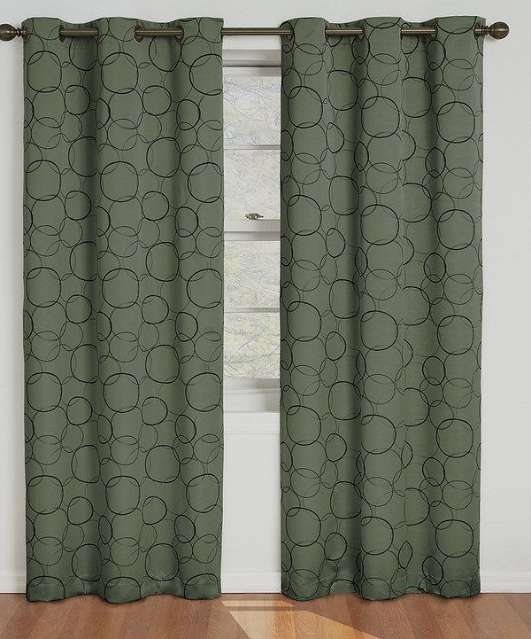 Look At This Sage Eclipse Meridian Grommet Panel On #zulily For Eclipse Corinne Thermaback Curtain Panels (View 10 of 29)