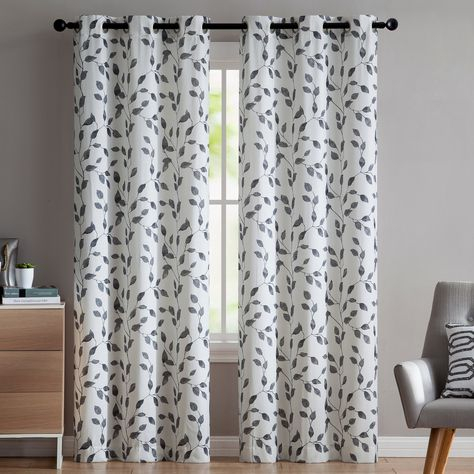 Loraine Nature/floral Semi Opaque Grommet Curtain Panel With Regard To The Curated Nomad Duane Jacquard Grommet Top Curtain Panel Pairs (#15 of 50)