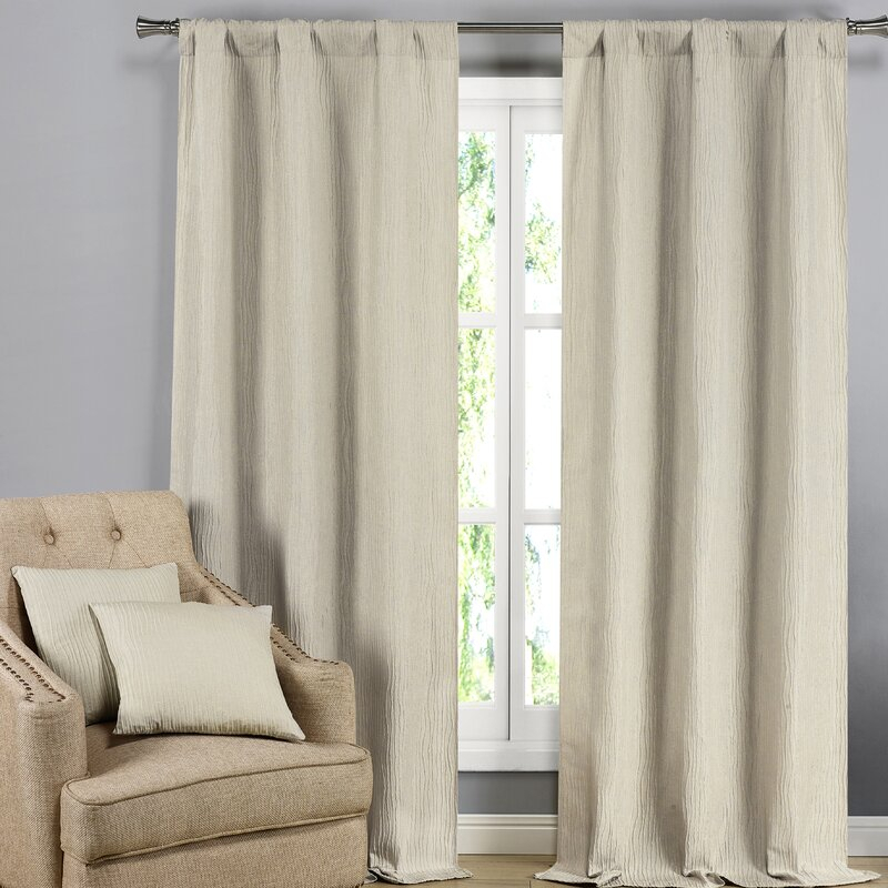 Inspiration about Lunsford Solid Color Blackout Curtain Panels With Regard To Curtain Panel Pairs (#17 of 26)