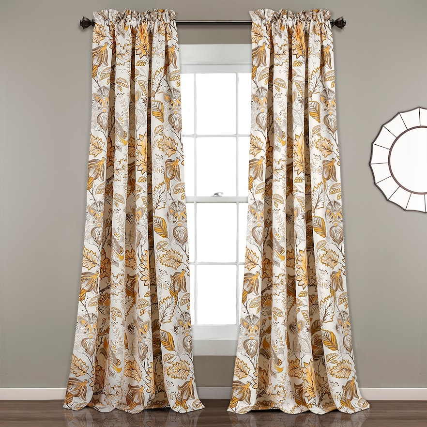 Inspiration about Lush Decor 2 Pack Cynthia Jacobean Room Darkening Window Inside Cynthia Jacobean Room Darkening Curtain Panel Pairs (#1 of 41)