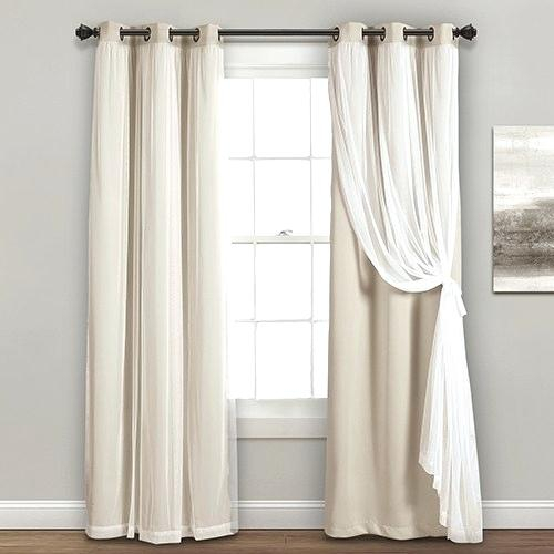 Lush Decor Curtains Lush Decor Linen Button Window Curtain Within Ruffle Diamond Curtain Panel Pairs (View 12 of 50)