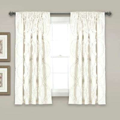 Lush Decor Curtains Window Panels White X Single Polyester Regarding Leah Room Darkening Curtain Panel Pairs (#21 of 50)