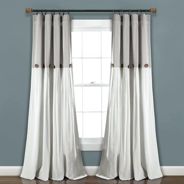 Lush Decor Curtains With Regard To Knotted Tab Top Window Curtain Panel Pairs (#21 of 50)