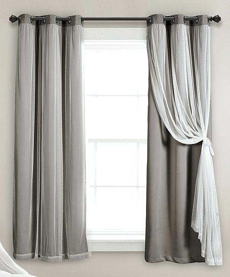 Lush Decor Curtains Within Leah Room Darkening Curtain Panel Pairs (#26 of 50)