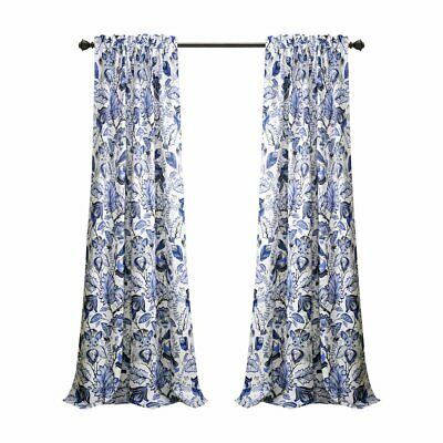 Inspiration about Lush Decor Cynthia Jacobean Panel Pair, Blue, 52W X 95L In. | Ebay Pertaining To Cynthia Jacobean Room Darkening Curtain Panel Pairs (#9 of 41)