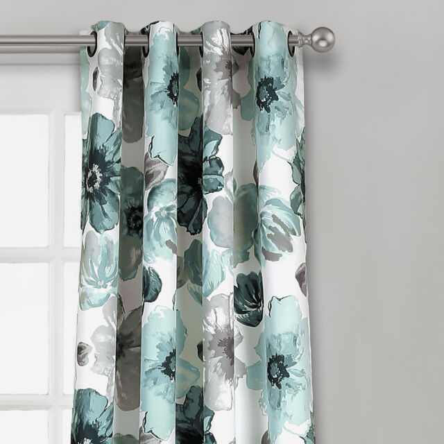 """Inspiration about Lush Decor Décor Leah Room Darkening Window Curtain Panel Pair 84"""" X 52""""  Blue With Regard To Leah Room Darkening Curtain Panel Pairs (#13 of 50)"""
