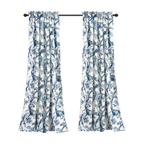 Lush Decor Dolores Room Darkening Curtain Panel Pair Throughout Dolores Room Darkening Floral Curtain Panel Pairs (View 14 of 35)