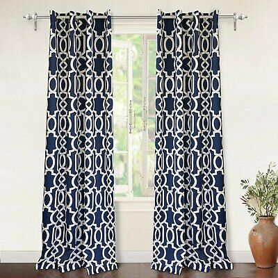 Popular Photo of Edward Moroccan Pattern Room Darkening Curtain Panel Pairs