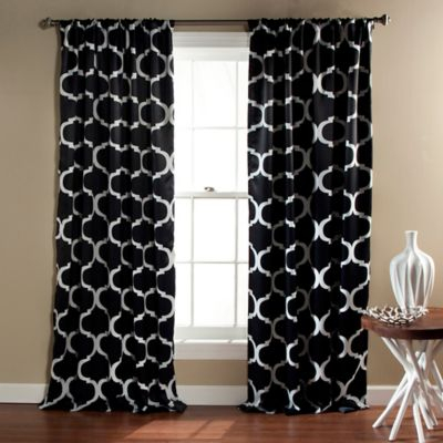 "Inspiration about Lush Décor Geo 84"" Rod Pocket Blackout Window Curtain Panel Inside Mid Century Geo Room Darkening Window Curtain Panel Pairs (#6 of 43)"