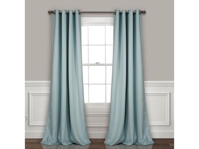 Lush Décor Insulated Grommet Blackout Curtain Panels Blue Pair Set 52X95 –  Newegg Inside Insulated Grommet Blackout Curtain Panel Pairs (View 37 of 50)