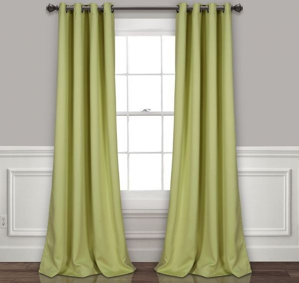 "Lush Decor Insulated Grommet Blackout Window Curtain Panel Pair, 84"" X 52"", Sage Price In Saudi Arabia 