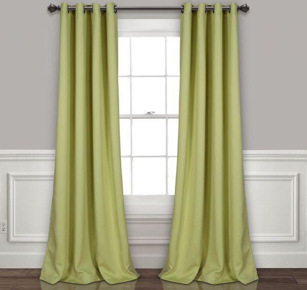"Lush Decor Insulated Grommet Blackout Window Curtain Panel Pair, 84"" X 52"",  Sage Price In Saudi Arabia | Compare Prices Inside Insulated Blackout Grommet Window Curtain Panel Pairs (#28 of 37)"