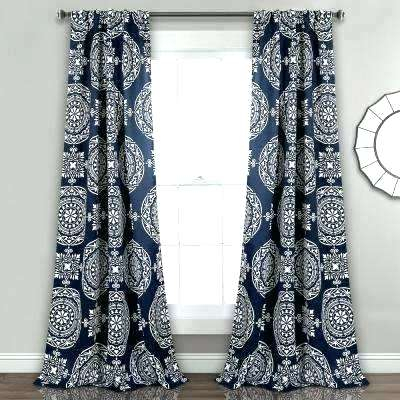 Lush Decor Leah Curtains Blue White Ruffle Curtain 108 Pertaining To Leah Room Darkening Curtain Panel Pairs (#37 of 50)