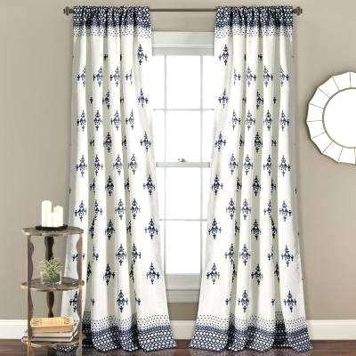 Inspiration about Lush Decor Leah Curtains Blue White Ruffle Curtain 108 Regarding Ruffle Diamond Curtain Panel Pairs (#38 of 50)