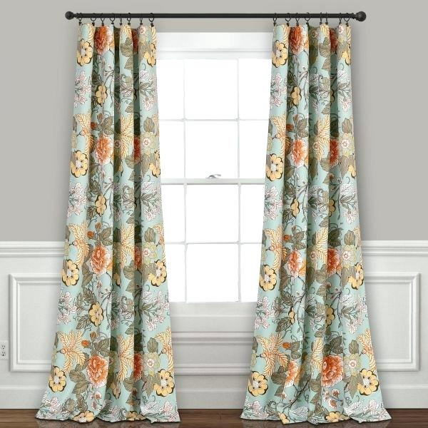 Inspiration about Lush Decor Leah Curtains Blue White Ruffle Curtain 108 With Regard To Leah Room Darkening Curtain Panel Pairs (#16 of 50)
