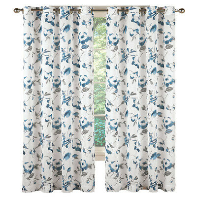 Lush Decor Leah Floral Room Darkening Window Curtains Panel In Leah Room Darkening Curtain Panel Pairs (#39 of 50)