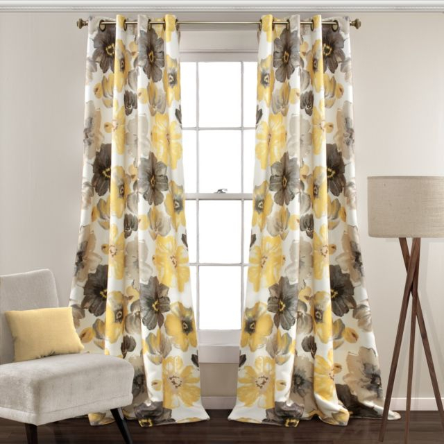 Inspiration about Lush Decor Leah Room Darkening Window Curtain Panel Pair, 108 Inch X 52  Inch, Intended For Weeping Flowers Room Darkening Curtain Panel Pairs (#10 of 50)