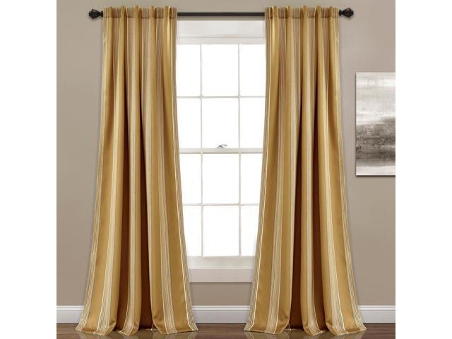 "Lush Decor Lush Décor Julia Stripe Room Darkening Window Curtain Panel  Pair, 84"" X 52"", Taupe – Newegg Inside Julia Striped Room Darkening Window Curtain Panel Pairs (#23 of 37)"