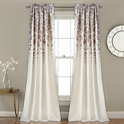 Lush Decor Lush Décor Weeping Flower Room Darkening Window Pertaining To Julia Striped Room Darkening Window Curtain Panel Pairs (#24 of 37)