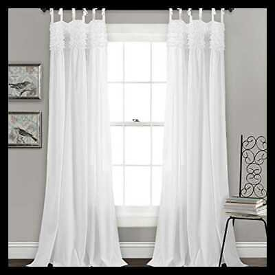 Inspiration about Lush Decor Lydia Ruffle Ivory 84 X 40 In. Curtain Panel Set With Lydia Ruffle Window Curtain Panel Pairs (#15 of 43)