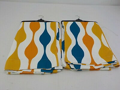Inspiration about Lush Decor Mid Century Geo Window Curtain Panel Pair, Turquoise/orange,  84X52 848742076484 | Ebay Inside Mid Century Geo Room Darkening Window Curtain Panel Pairs (#16 of 43)