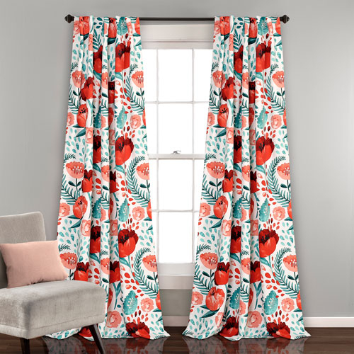 Lush Decor Poppy Garden Multicolor 84 X 52 In (#25 of 37)