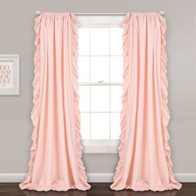 "Inspiration about Lush Décor Reyna 84"" Rod Pocket Window Curtain Panel Pair Intended For Lydia Ruffle Window Curtain Panel Pairs (#5 of 43)"