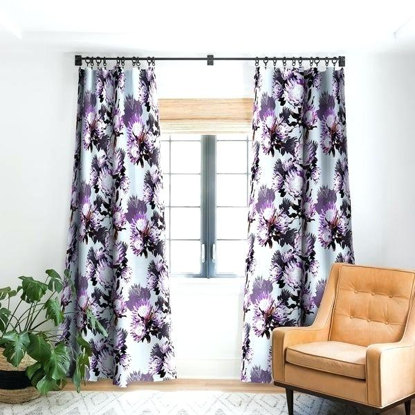 Inspiration about Lush Decor Room Darkening Floral Curtain Panel Pair Panels With Regard To Floral Pattern Room Darkening Window Curtain Panel Pairs (#32 of 44)