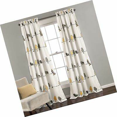 Lush Décor Rowley Birds Room Darkening Window Curtain Panel Pertaining To Rowley Birds Room Darkening Curtain Panel Pairs (View 14 of 49)