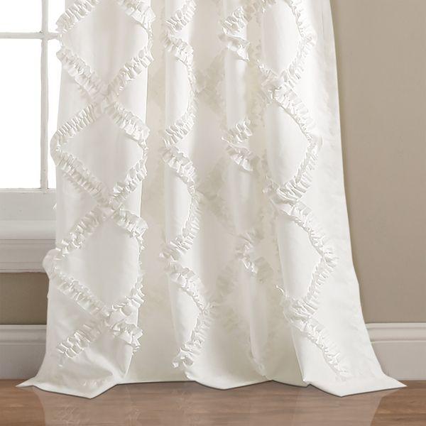 "Lush Decor Ruffle Diamond Curtain Panel Pair – 52"" W X 84"" L With Regard To Ruffle Diamond Curtain Panel Pairs (View 4 of 50)"