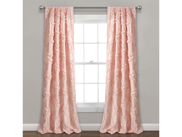 """Inspiration about Lush Decor Ruffle Diamond Window Curtain Panel Pair, 84"""" X 54"""", Blush –  Newegg Pertaining To Ruffle Diamond Curtain Panel Pairs (#2 of 50)"""