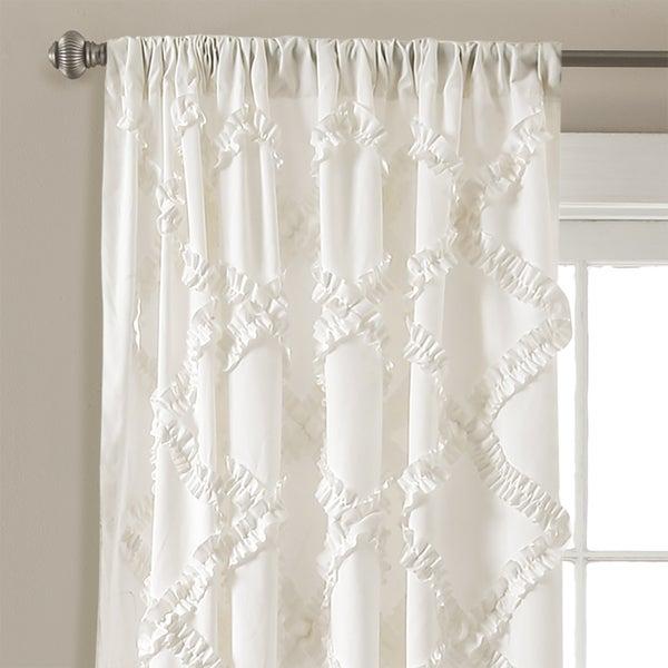 Popular Photo of Ruffle Diamond Curtain Panel Pairs