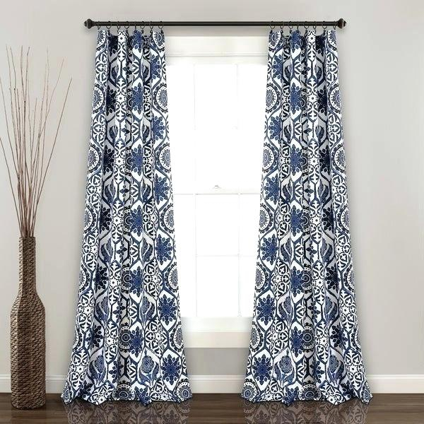 Inspiration about Lush Decor Throughout Weeping Flowers Room Darkening Curtain Panel Pairs (#40 of 50)