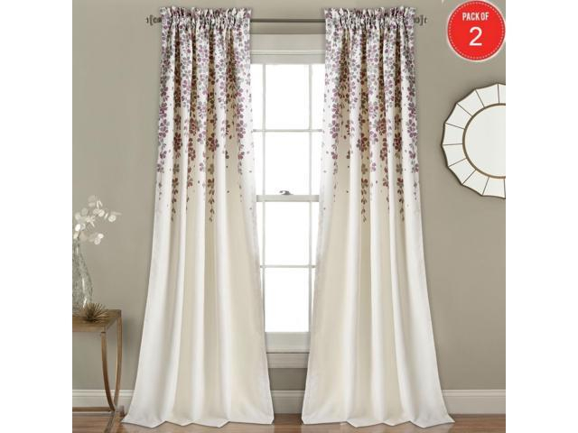 "Lush Decor Weeping Flower, 84"" X 52"" + 2"" Header, Purple/gray Room Darkening Window Curtain Panel Pair (set Of 2) – Newegg Regarding Weeping Flowers Room Darkening Curtain Panel Pairs (View 4 of 50)"
