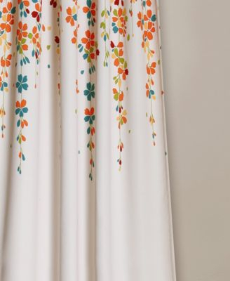 Lush Decor Weeping Flower Room Darkening Window Curtain In Weeping Flowers Room Darkening Curtain Panel Pairs (View 3 of 50)