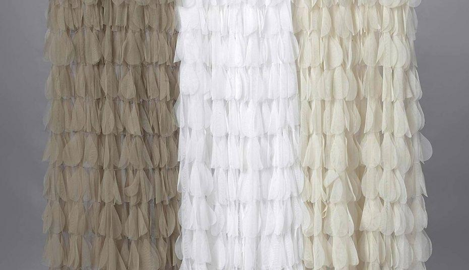 Inspiration about Lush White Curtains – Rietiannunci With Ruffle Diamond Curtain Panel Pairs (#46 of 50)
