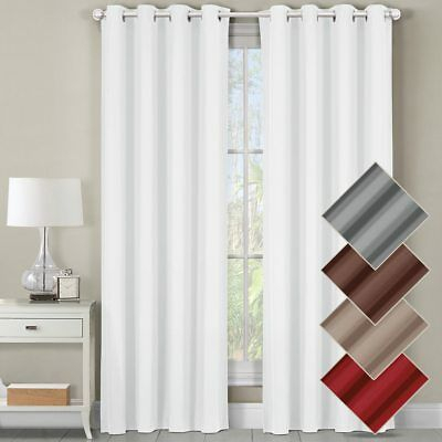 Luxor Top Grommet Panels Heavyweight 100% Cotton Window With Solid Cotton Curtain Panels (#30 of 47)