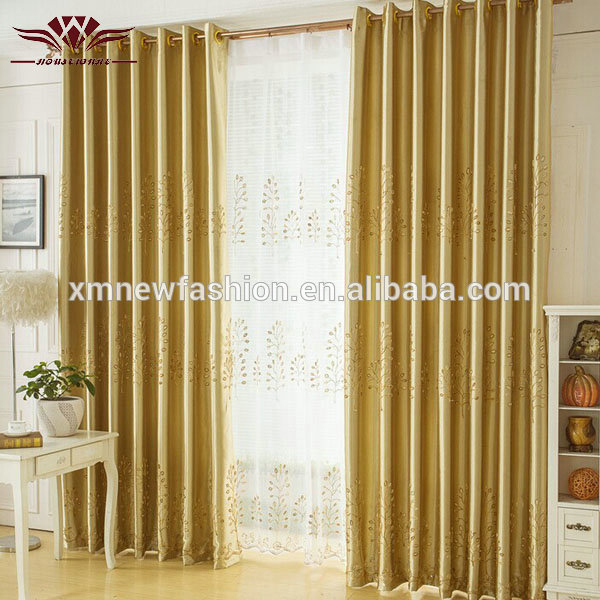 Inspiration about Luxury Blackout Gold Pachira Model Living Room Window Curtain Treatment –  Buy Gold Pachira Curtain,model Living Room Curtain Fabric,luxury Blackout Regarding Thermaback Blackout Window Curtains (#22 of 36)