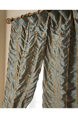 Luxury Curtains & Curtain Hardware At Neiman Marcus In Total Blackout Metallic Print Grommet Top Curtain Panels (#20 of 50)