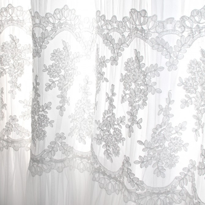 Inspiration about Luxury French Lace Curtain Panel For Double Layer Sheer White Single Curtain Panels (#30 of 50)