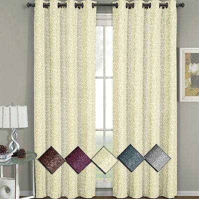 Luxury Jacquard Curtain Panel With Attached Waterfall Inside Elegant Comfort Luxury Penelopie Jacquard Window Curtain Panel Pairs (View 36 of 50)