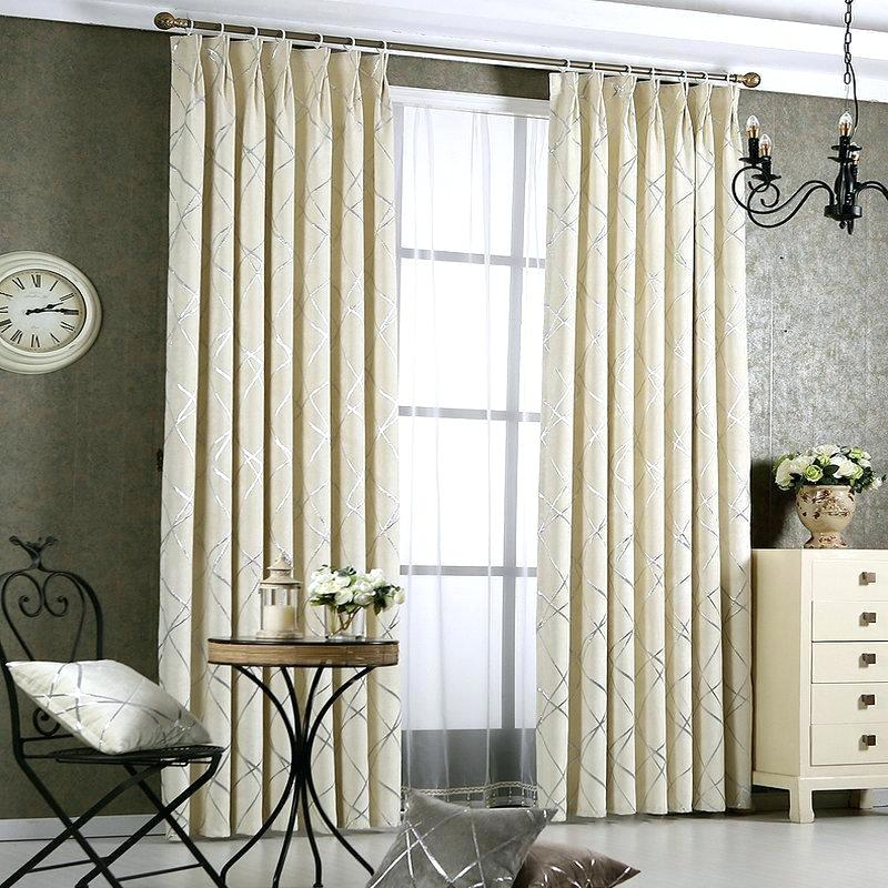 Luxury Window Drapes Dense Curtains For Living Room Bedroom With Regard To Geometric Linen Room Darkening Window Curtains (View 31 of 50)