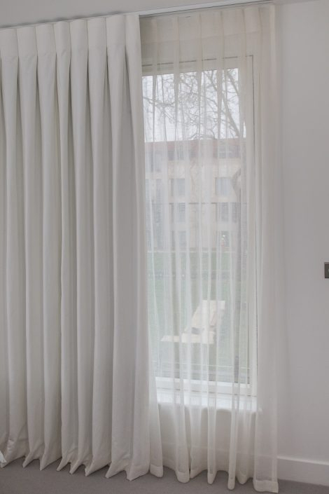 Made To Measure Curtains London | Online Curtain Design With Montpellier Striped Linen Sheer Curtains (#28 of 50)