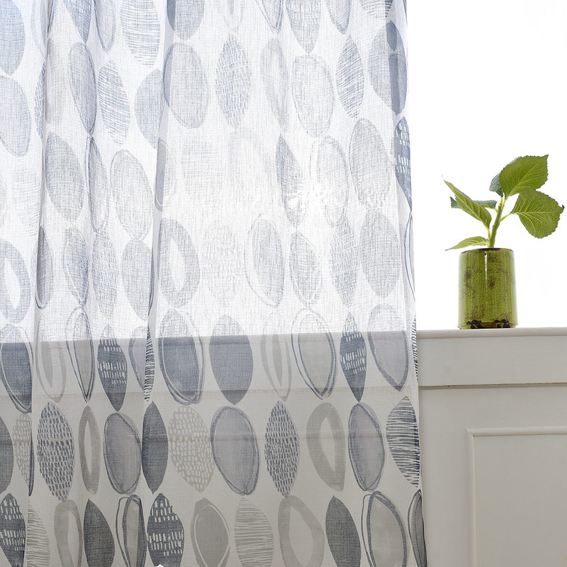 Made To Measure | Infinity Blue Modern Geometric Voile Curtain Regarding Infinity Sheer Rod Pocket Curtain Panels (#26 of 50)