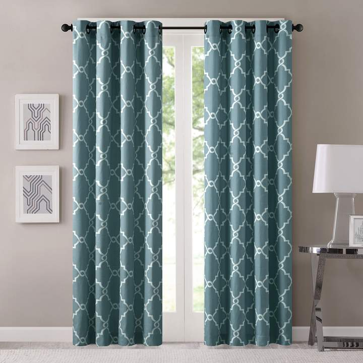 Madison Home Usa 1 Panel Westmont Fretwork Print Window In Fretwork Print Pattern Single Curtain Panels (View 2 of 46)